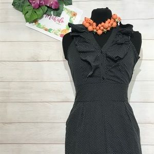 Classic Work GoingOut Polka Dot Dress with Pockets